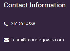 Contact Info Image