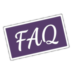purple FAQ sticker